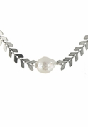 Pearl Crinkle Choker Necklace