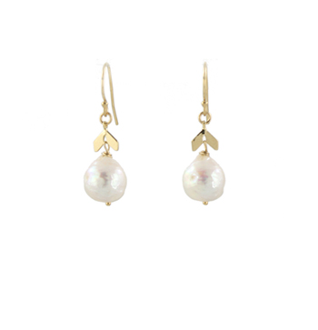 Pearl Crinkle Earrings