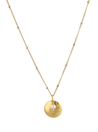 Pearl Disk Necklace