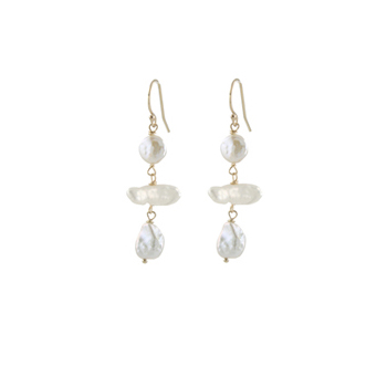 Pearl Pagoda Earrings