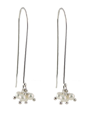 Pearl Pom-Pom Earrings