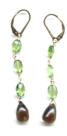Peridot and Andalusite Earrings -- NA