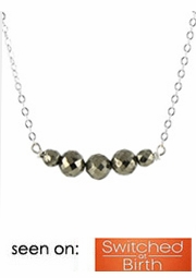 Pyrite Slice Necklace