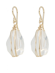 Quartz Wrap Earrings