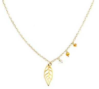 Quirky Leaf Necklace