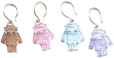 Retro Robot Charm Earrings