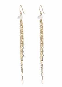 Rocker Chic Chain Earrings