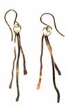 Rose Gold Icicle Earrings
