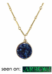 Round Drusy Pendant Necklace