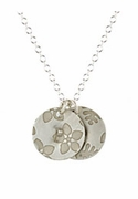 Round Floral Initial Necklace