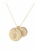 Round Gold Initial Necklace