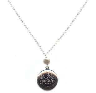 Round Locket  Pendant Necklace