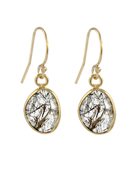 Rutilated Slice Earrings