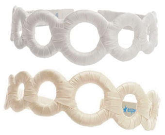 Silk Charmeuse Circles Headband