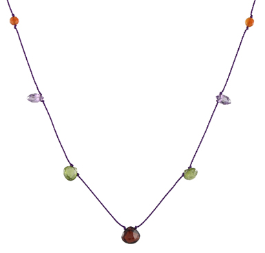Silken Gemstone Necklace