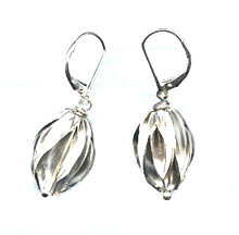 Silver Seedpod Earrings