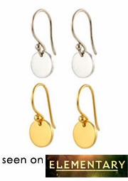Simple Disc Earrings