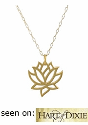 Small Lotus Flower Necklace