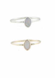 Small Opal Oval Ring