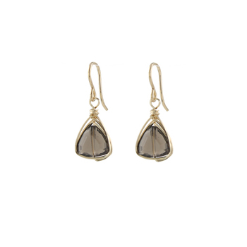Smoky Quartz Trillion Earrings