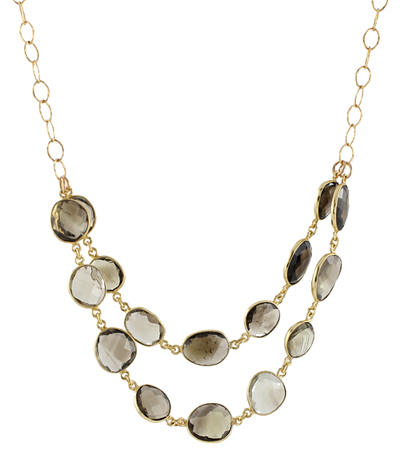 Smoky Quartz Statement Necklace