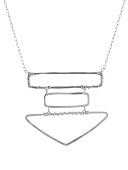 Stacked Geometric Necklace