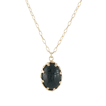 Stone Scarab Necklace