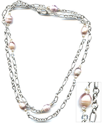 Substance Sterling and Pearl Necklace
