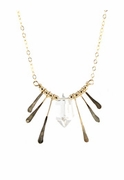 Sunburst Quartz Point Necklace
