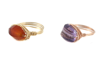 Sunset Wire Wrap Rings