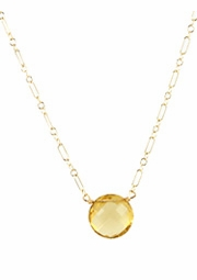 Sunshine Citrine Bubble Necklace