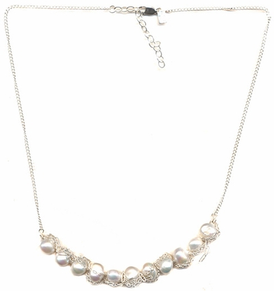 Tangled Pearl Necklace