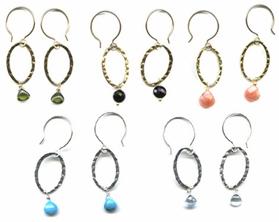 Textured Oval Earrings (5 colors)