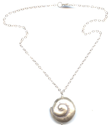Thai Silver Shell Necklace -- NA