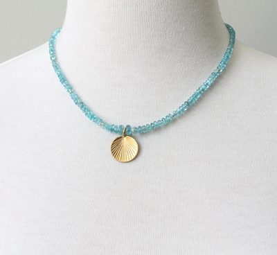 Apatite Shell Necklace