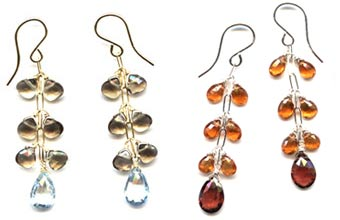 Tiered Gemstone Earrings