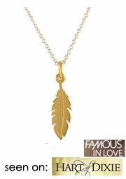 Tiny Feather Necklace