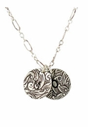 Tooled Initial Necklace