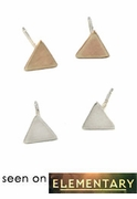 Triangle Post Earrings