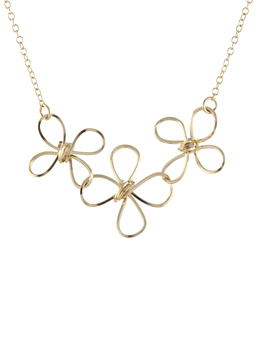 Triple Butterfly Twist Necklace