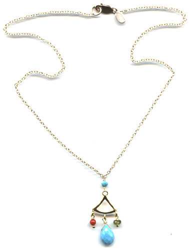 Tuquoise Pagoda Necklace