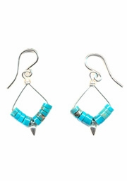 Turquoise Heshi Earrings