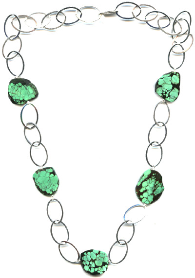 Turquoise Slab Necklace -- NA