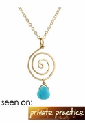 Turquoise Swirl Necklace