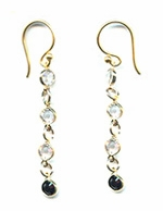 Tuxedo Crystal Earrings