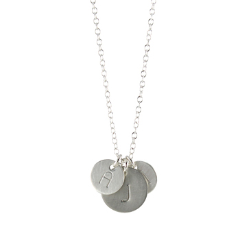 Uppercase Bauhaus Initial Necklace