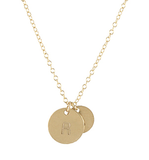 Uppercase Bauhaus Initial Necklace, GF