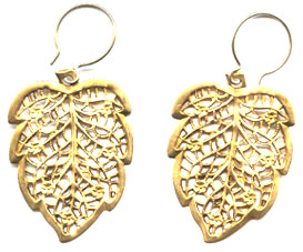 Vintage Filigree Leaf Earrings