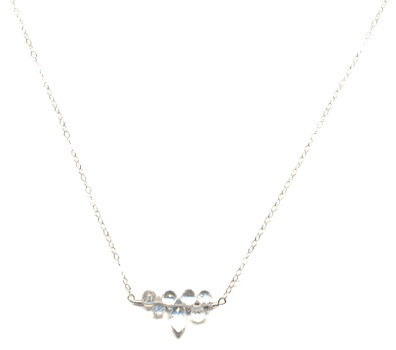 White Topaz Sparkle Necklace -- NA