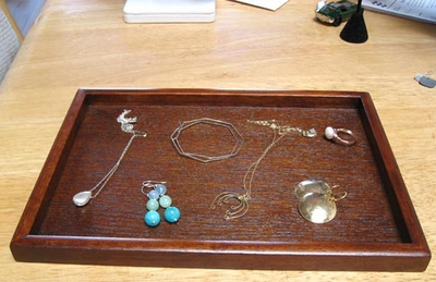 Wooden Jewelry Tray